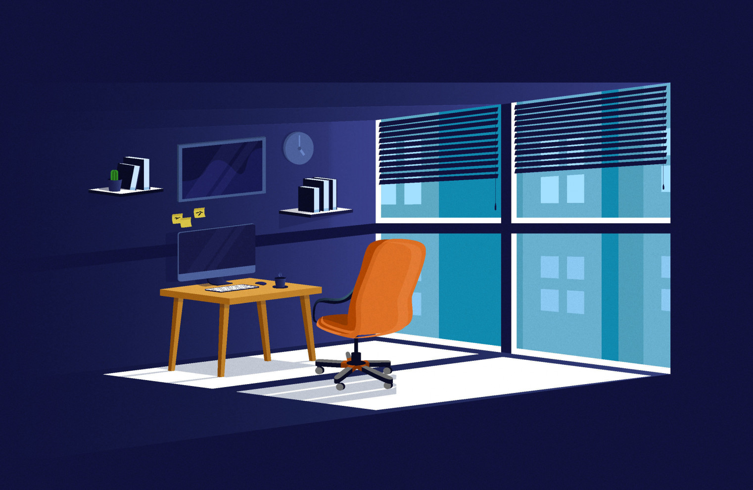 illustration with Windows concept