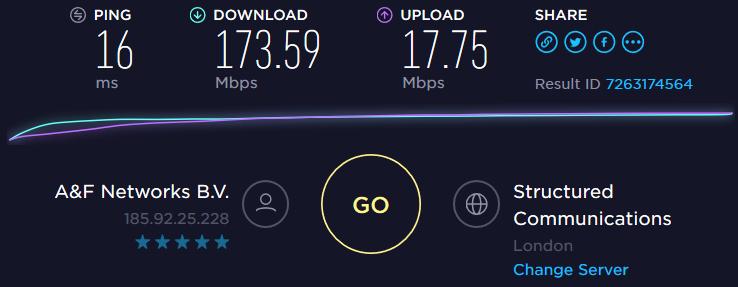 Speedtest UK server