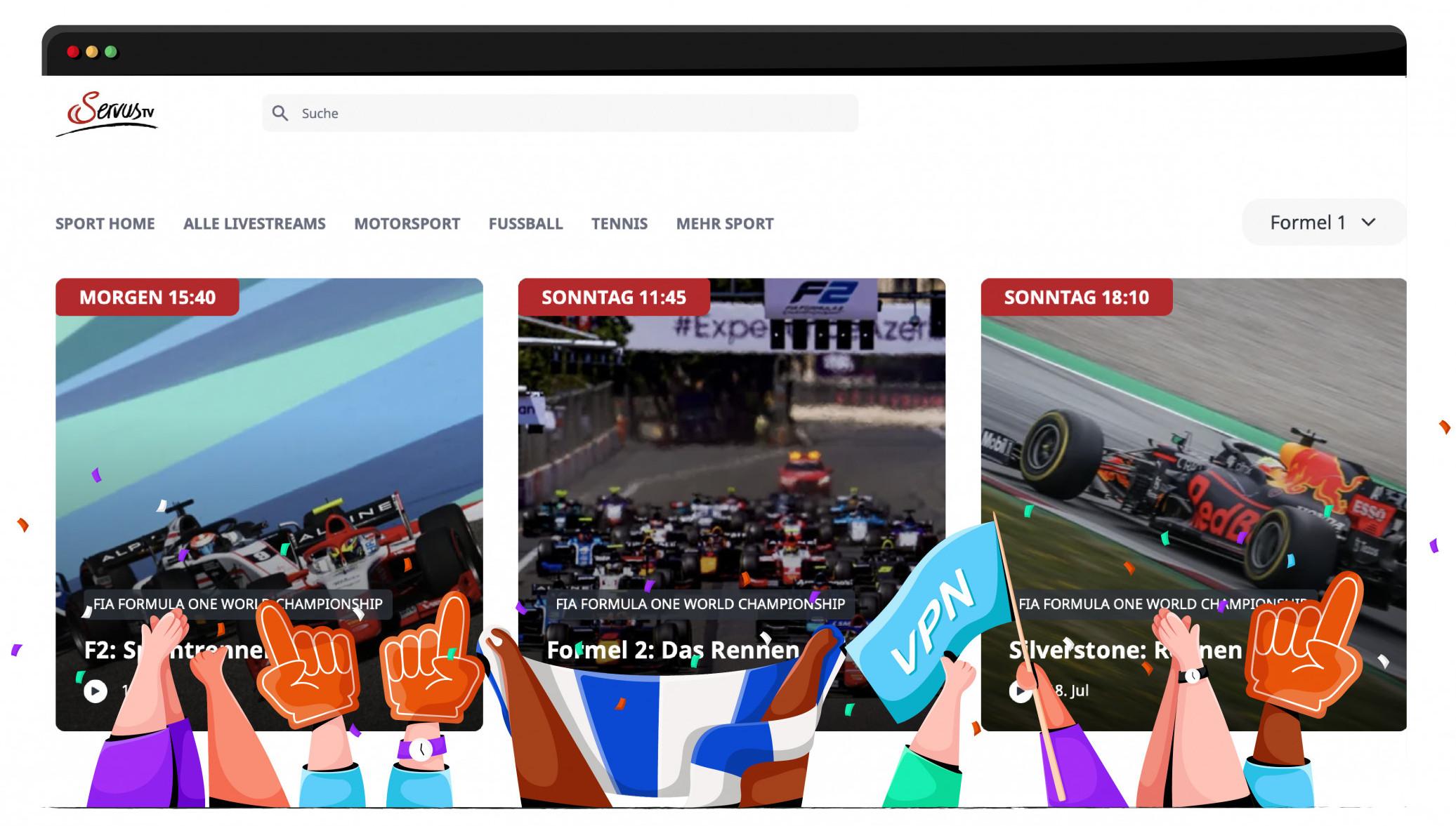 Servus TV'de ücretsiz Formula 1 akışı