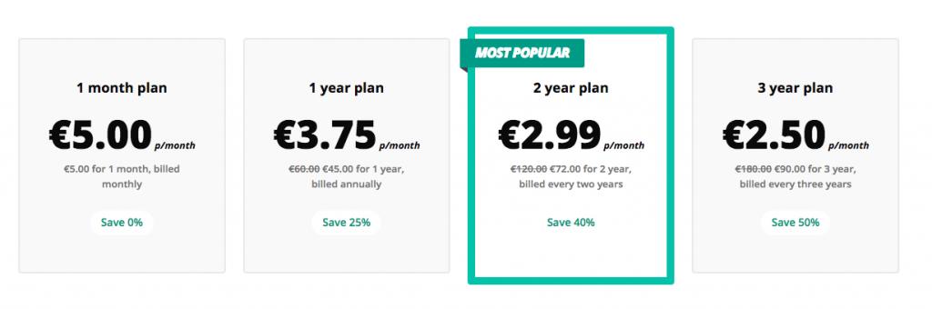 A 5 Euro VPN árajánlatai