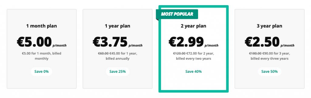 5 euro VPN prezzi