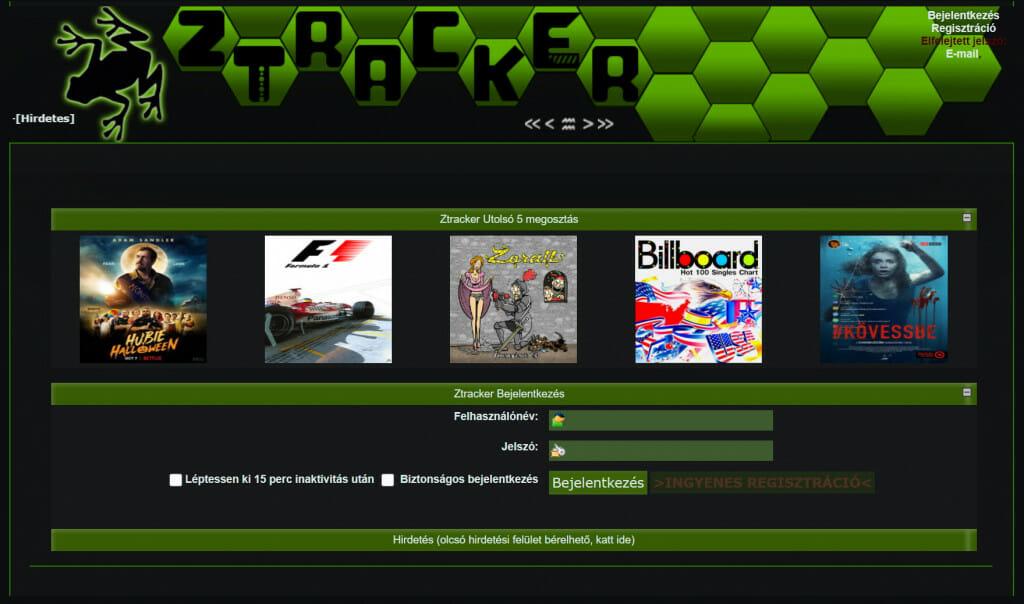 Ztracker torrent oldalak