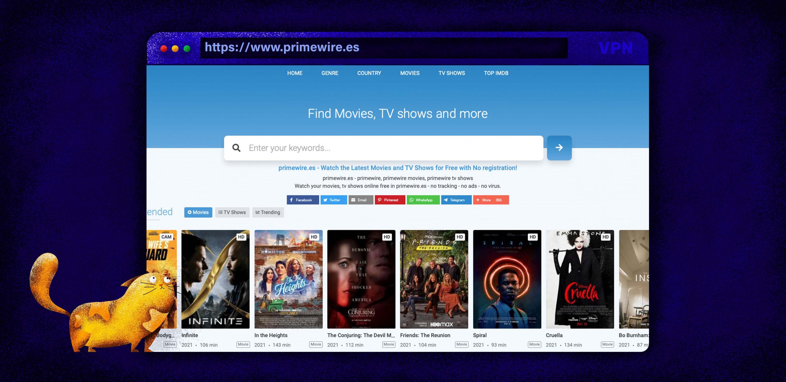 Użyj Primewire jako alternatywy dla Putlockera, aby oglądać filmy i programy telewizyjne.