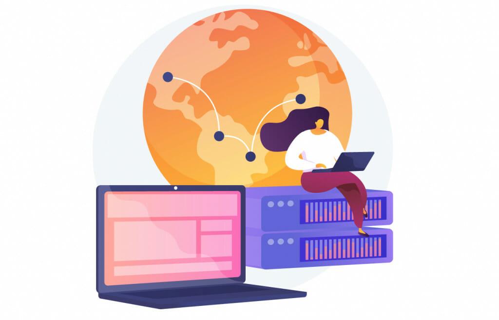 Browsing through a proxy server