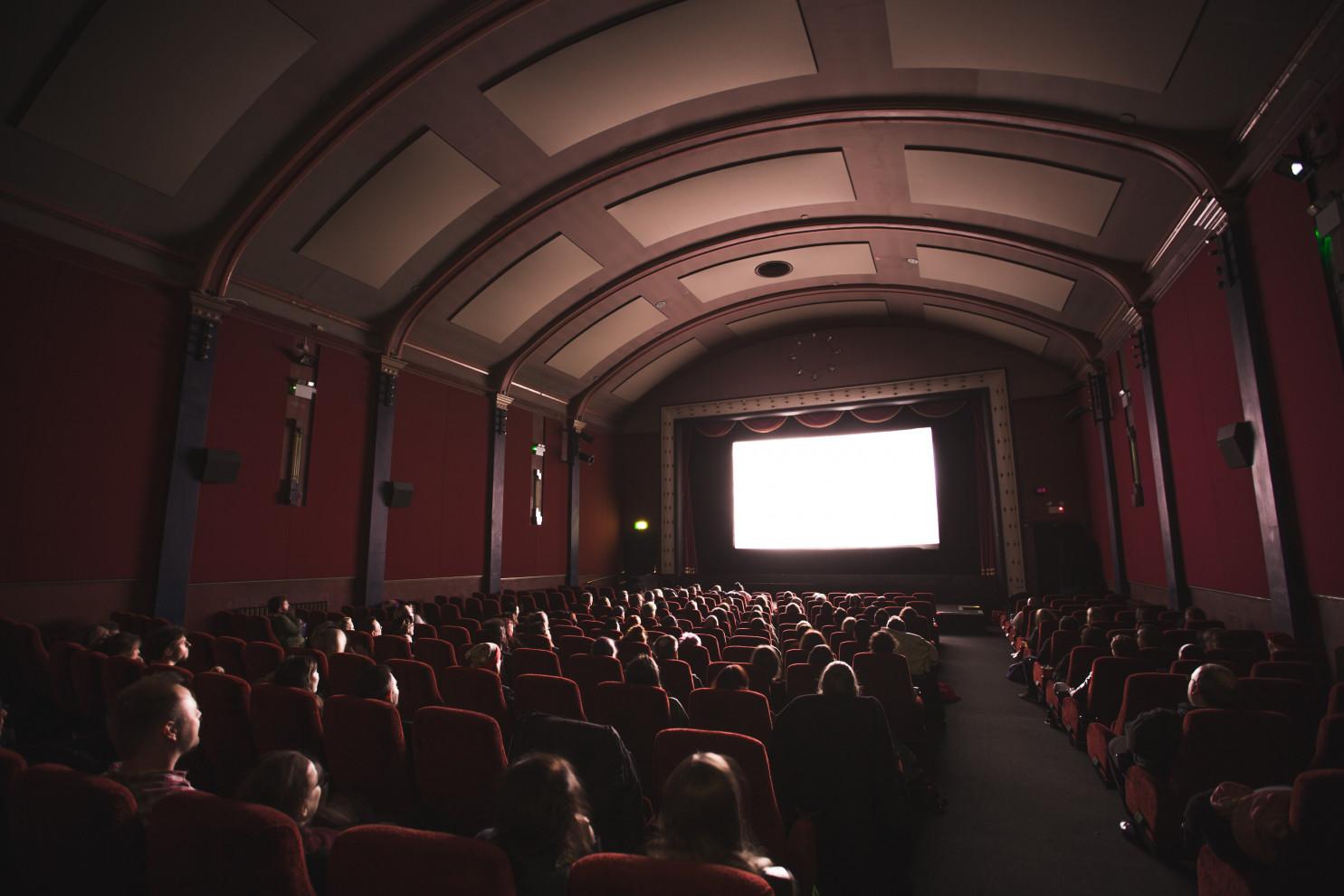 Cinema theatre on a premiere day