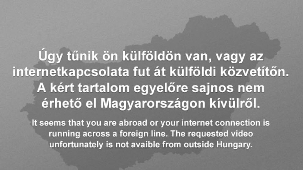 Indavideo Magyarországon kívülről