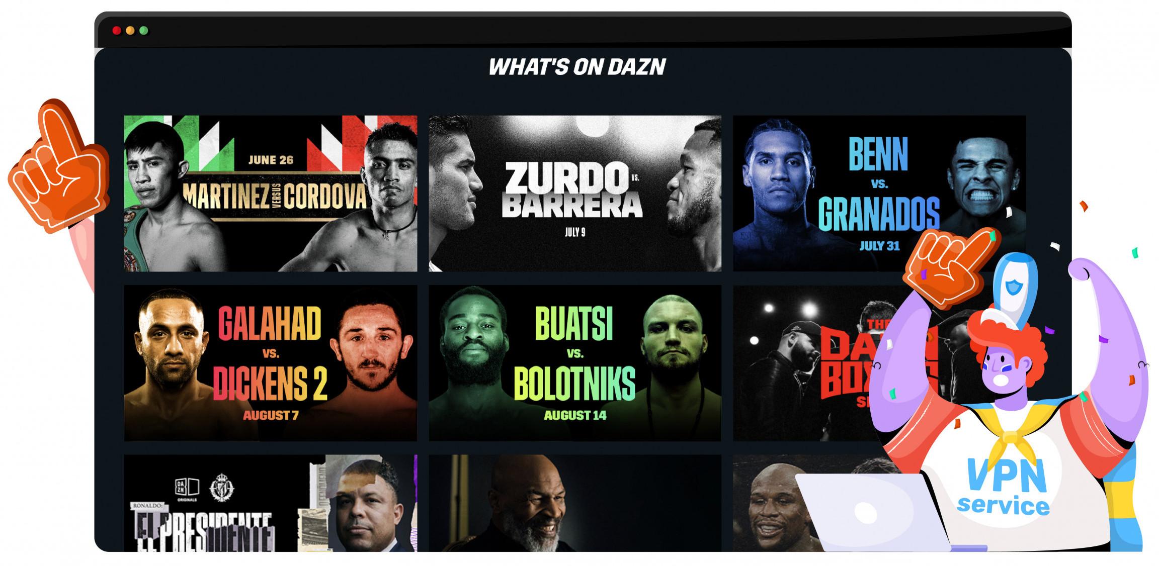 Stream combat sports on DAZN