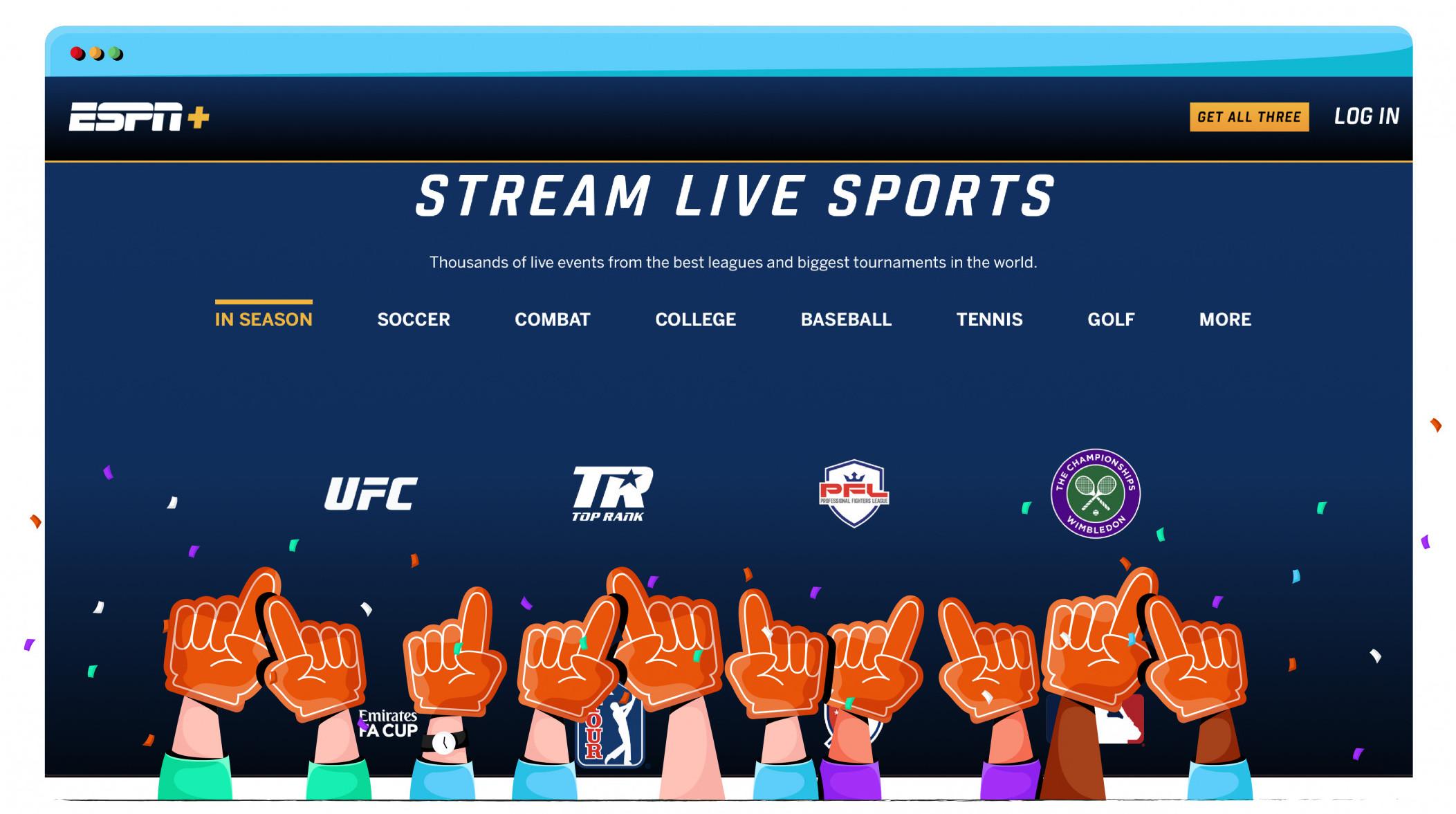 Stream UFC events, hockey and basketball on ESPN+