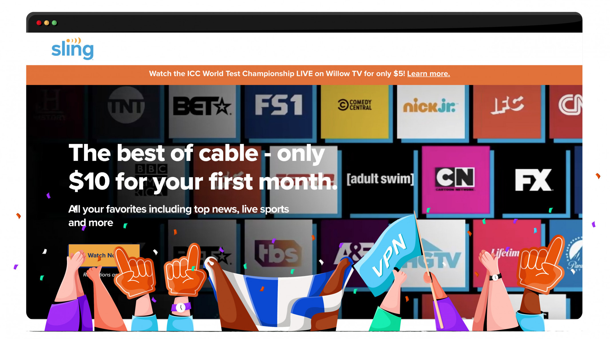 Watch the NBA and other sporting events through Sling TV
