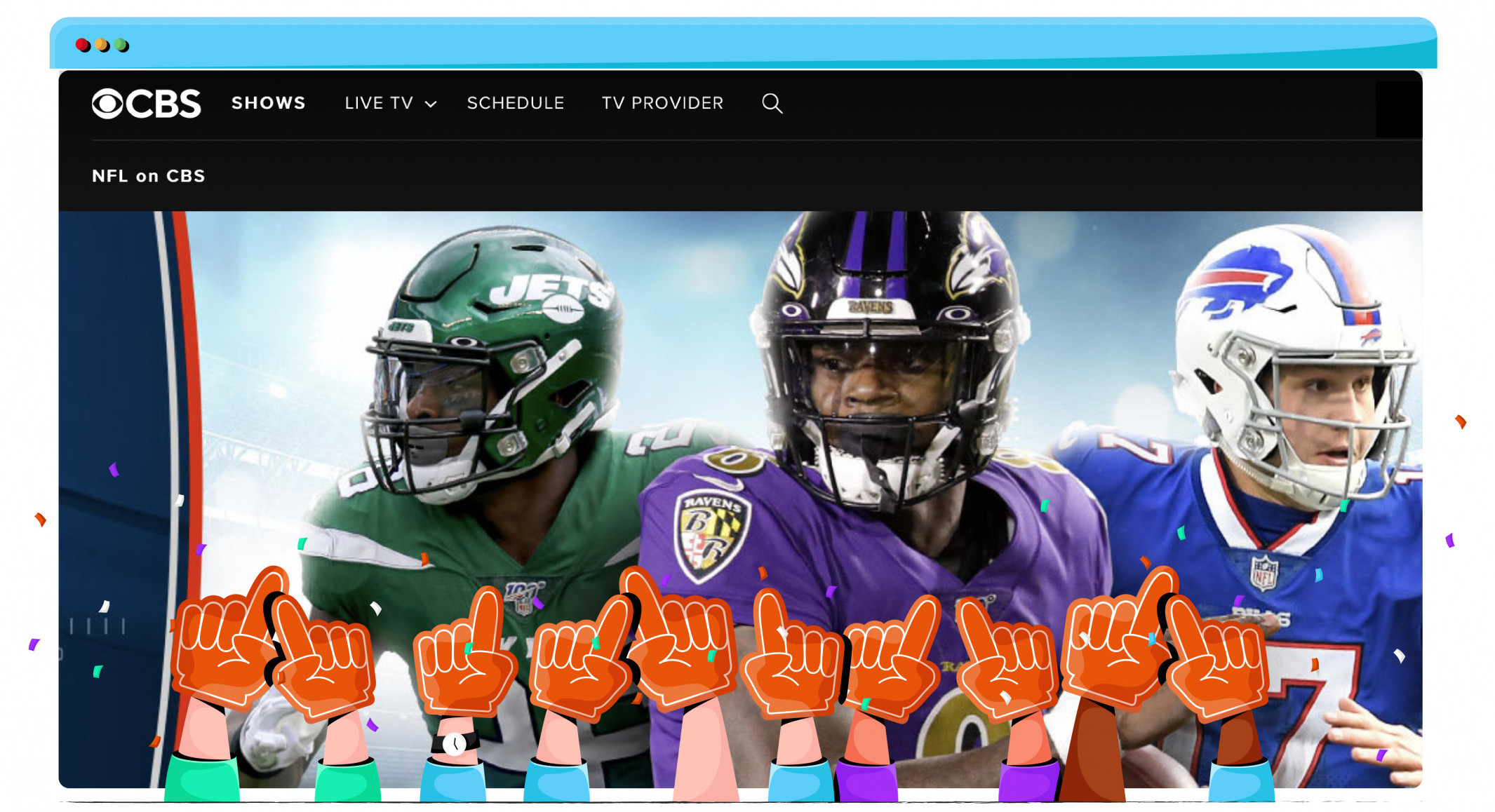 Supplement other sports streaming services with CBS All Access