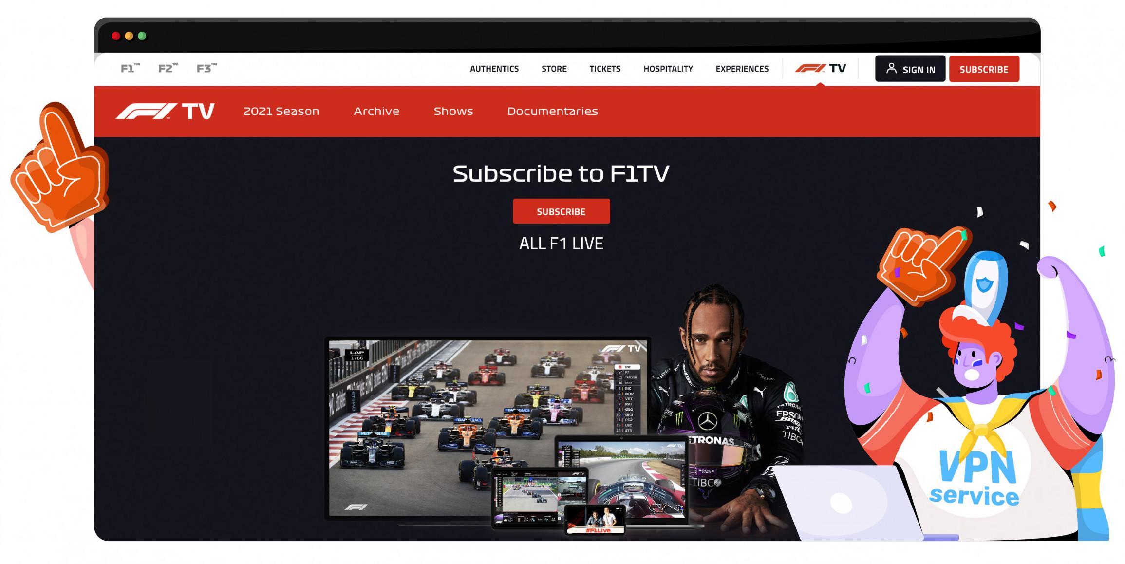 F1 TV is a platform for the Formula 1 races