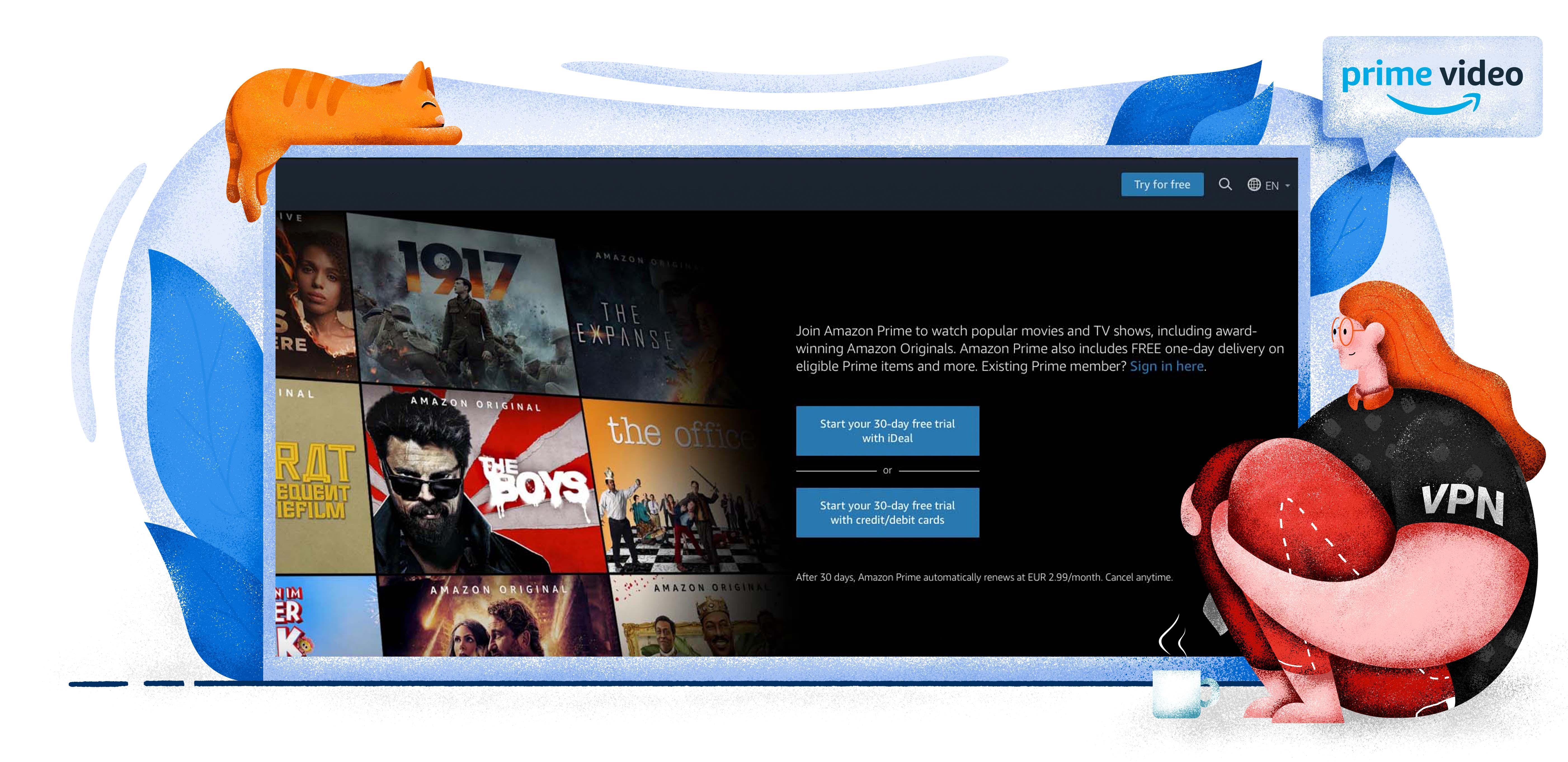Amazon Prime Video streaming szolgáltatás