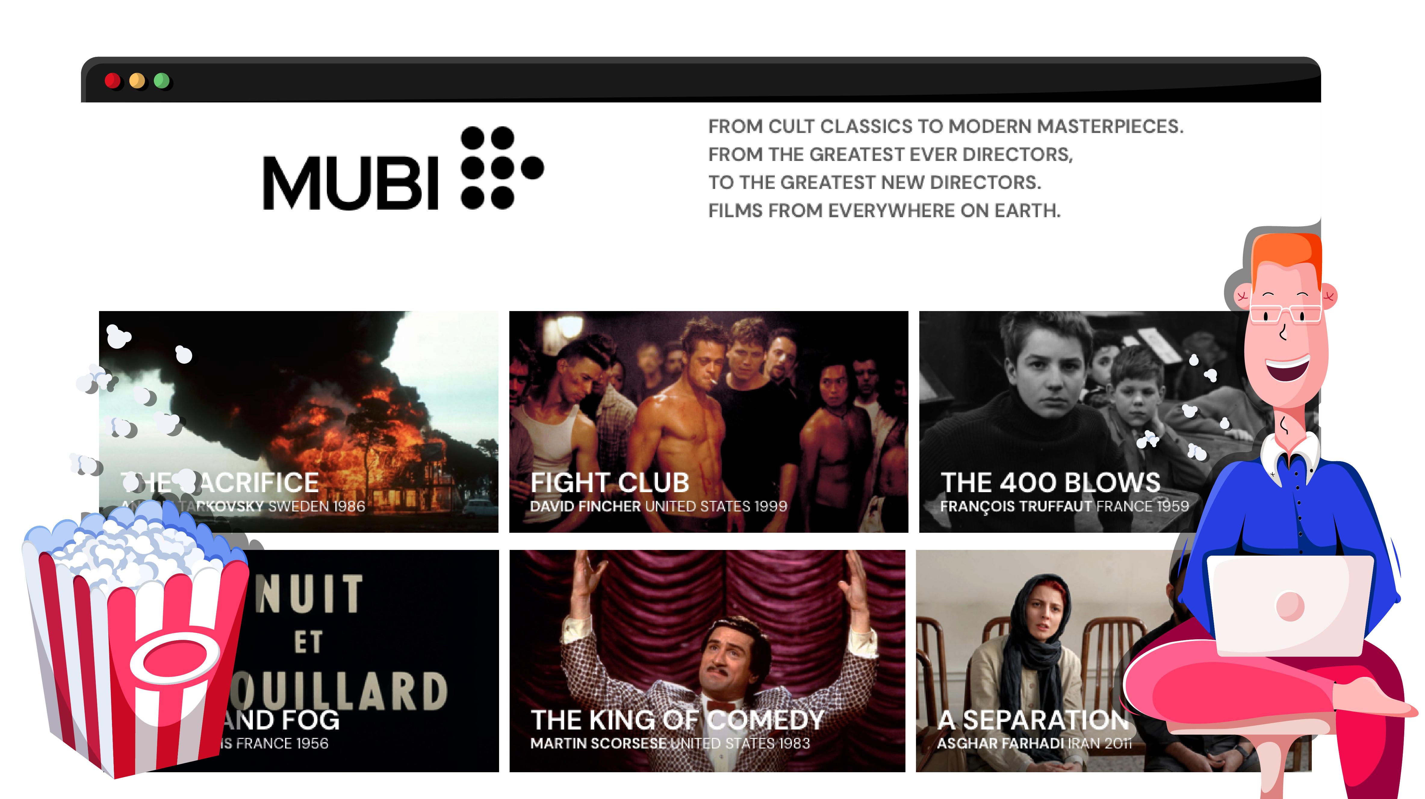 Mubi streaming szolgáltatás