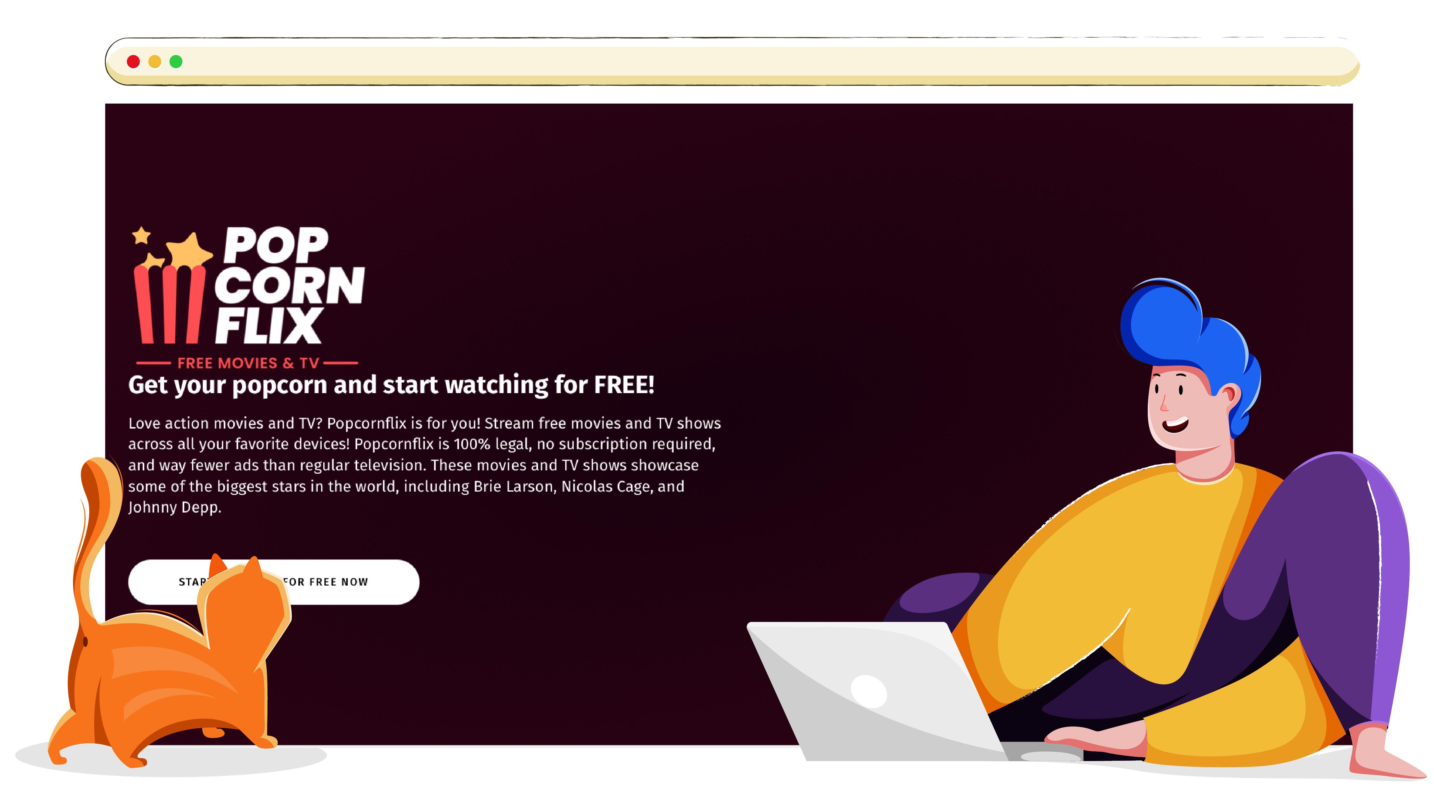 Popcornflix online streaming szolgáltatás