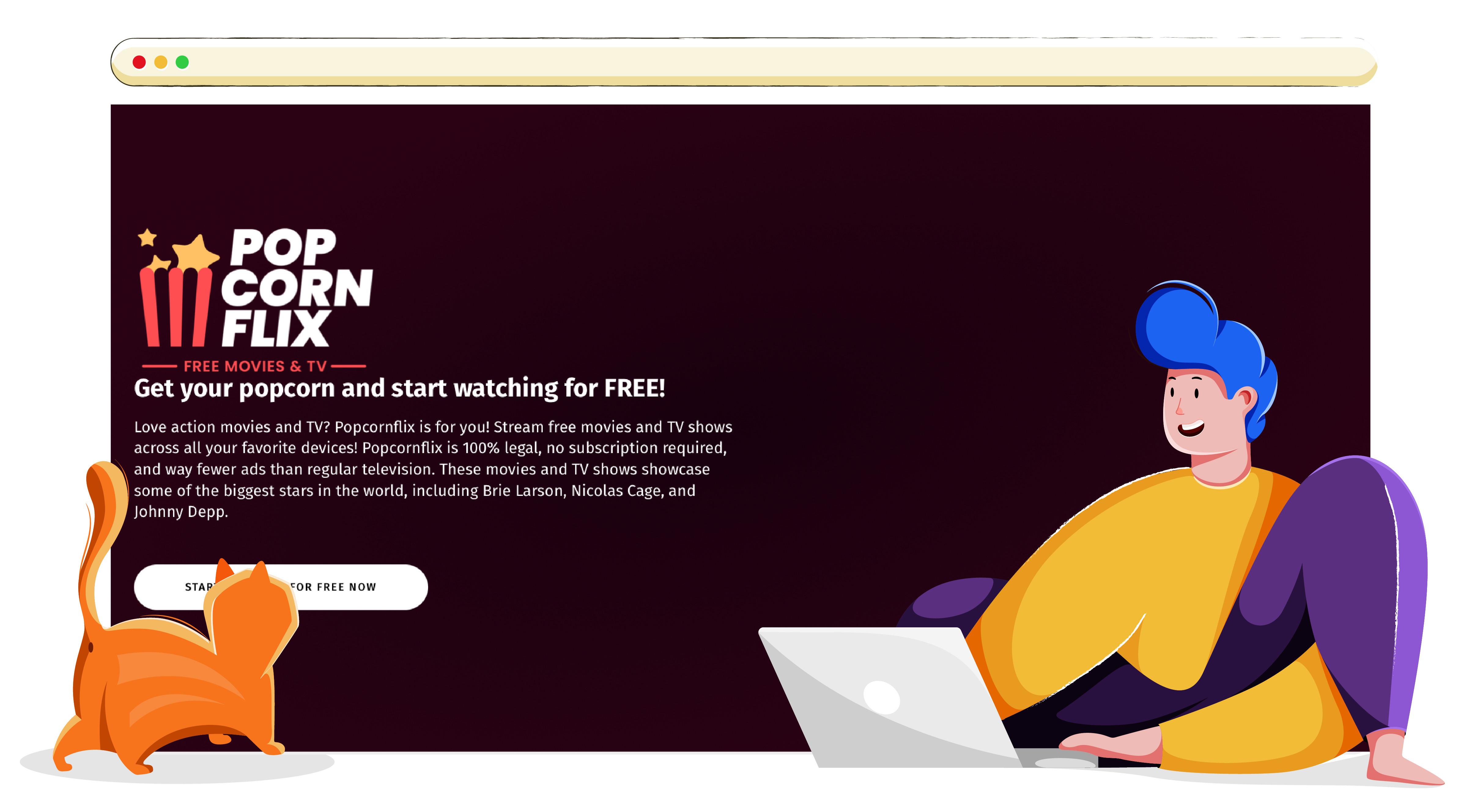 Servizio di streaming online Popcornflix