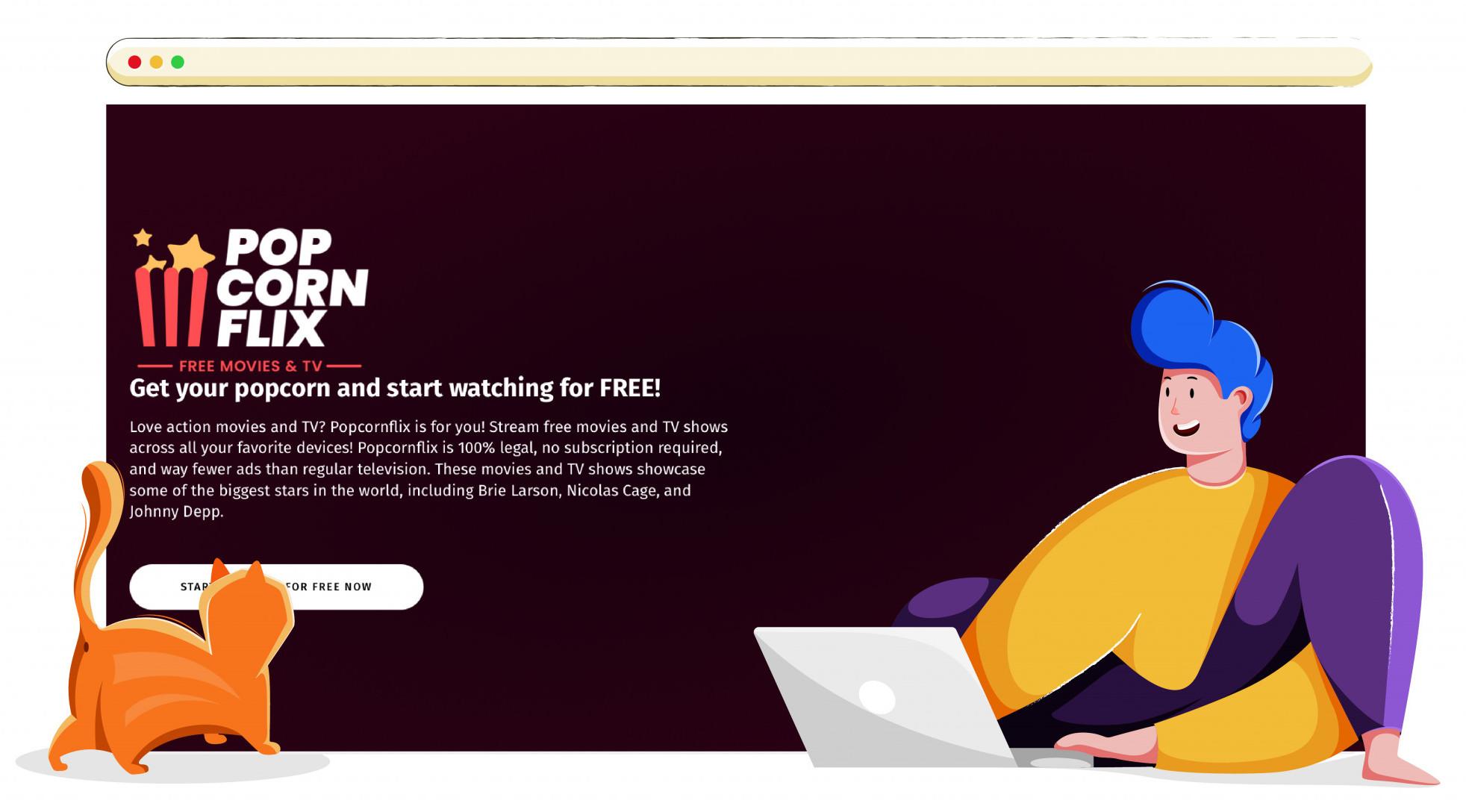 Popcornflix online streaming service