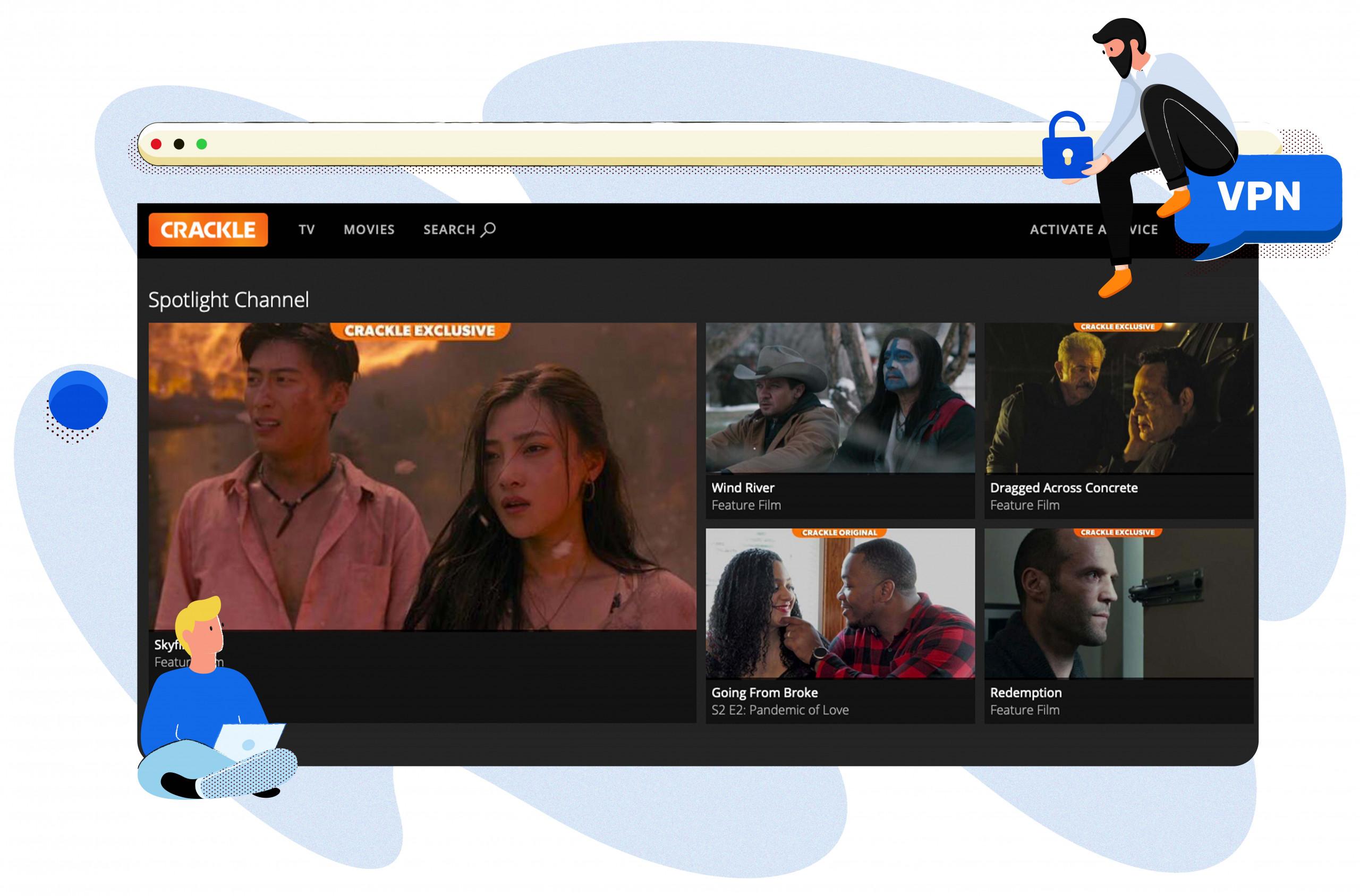 Crackle streaming platform