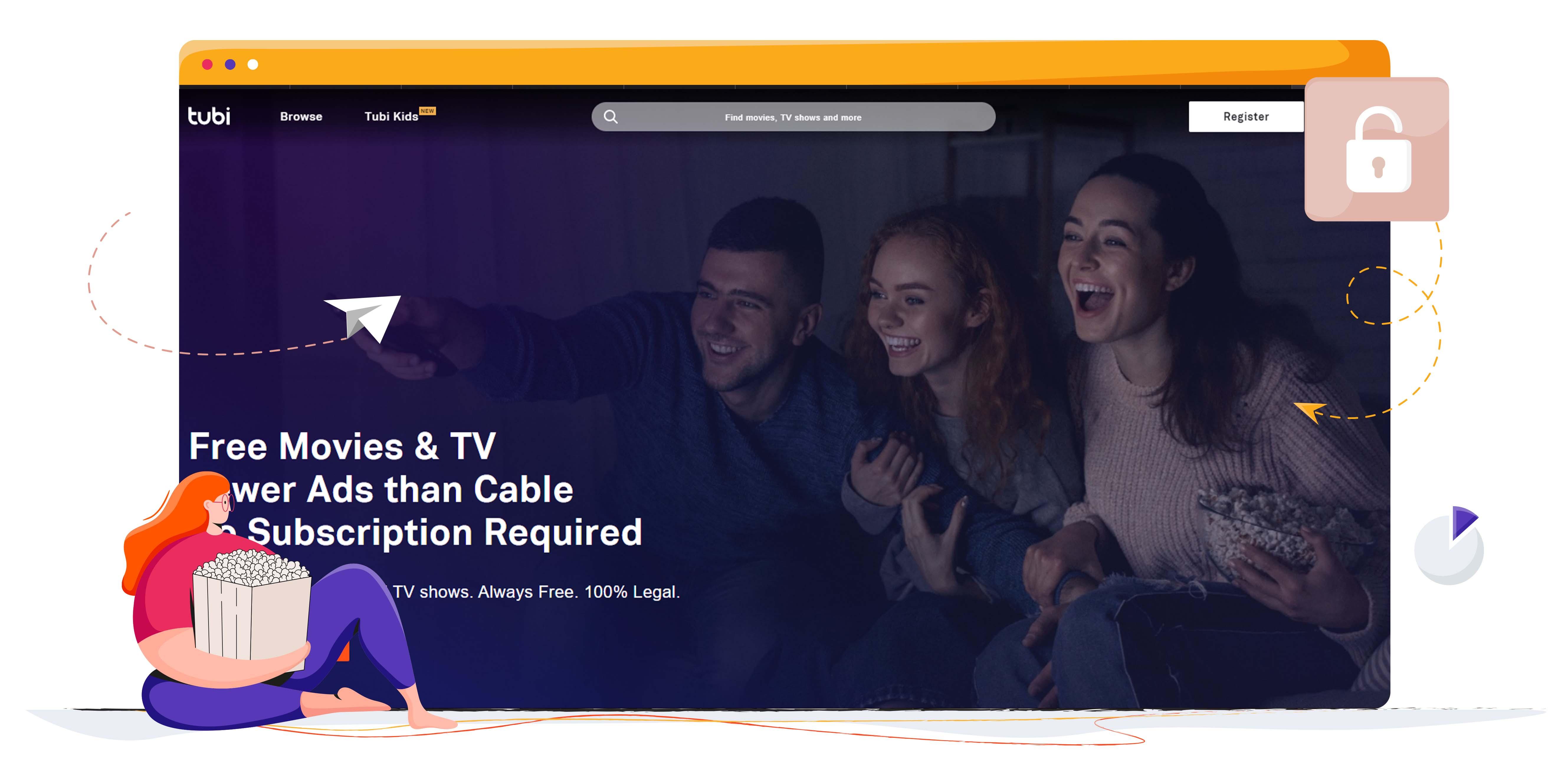 Tubi TV ingyenes streaming platform