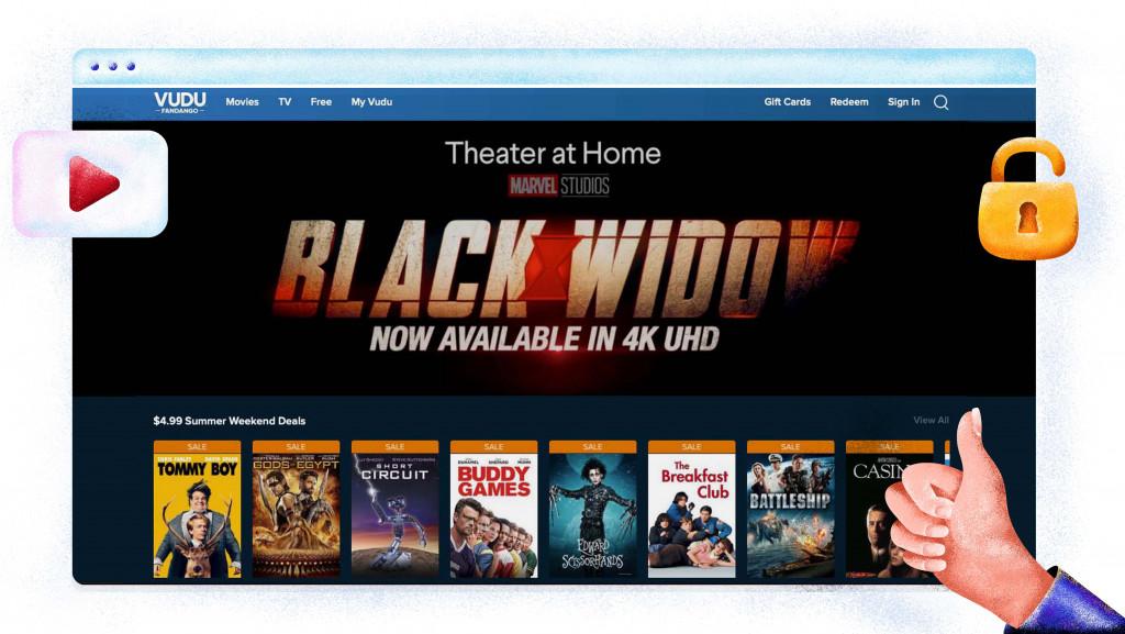 Vudu movie streaming platform
