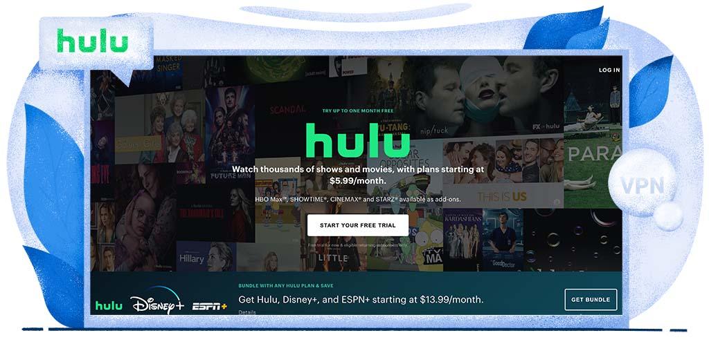 Hulu streaming platform in America