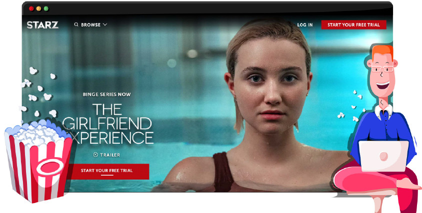 Starz television network streaming its own original productions