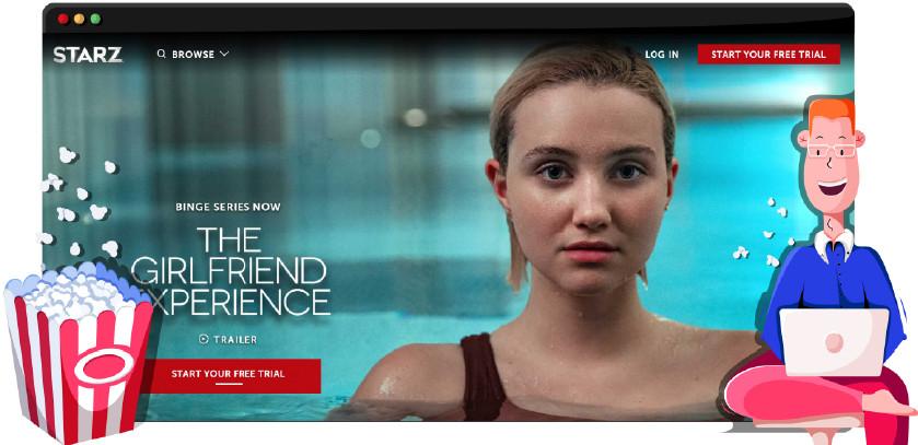La rete televisiva Starz trasmette in streaming le proprie produzioni originali