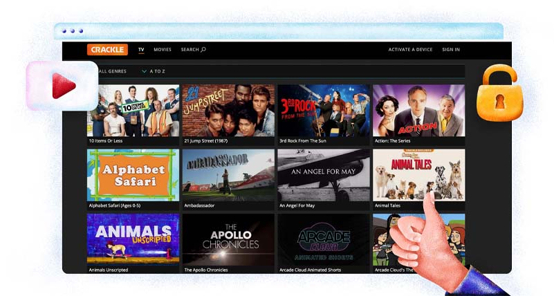 Crackle free streaming service