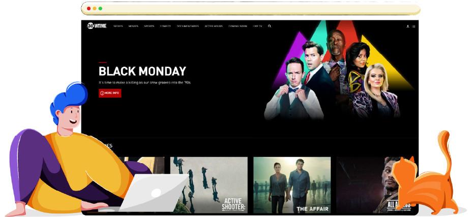 Showtime online streaming platform TV sorozatok számára