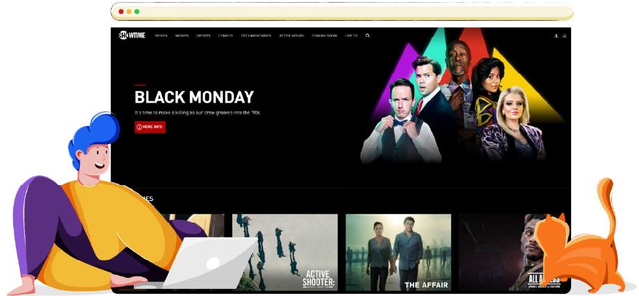 Piattaforma di streaming online di Showtime