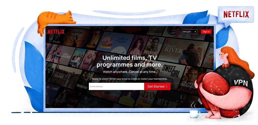 Netflix streaming platform for TV series