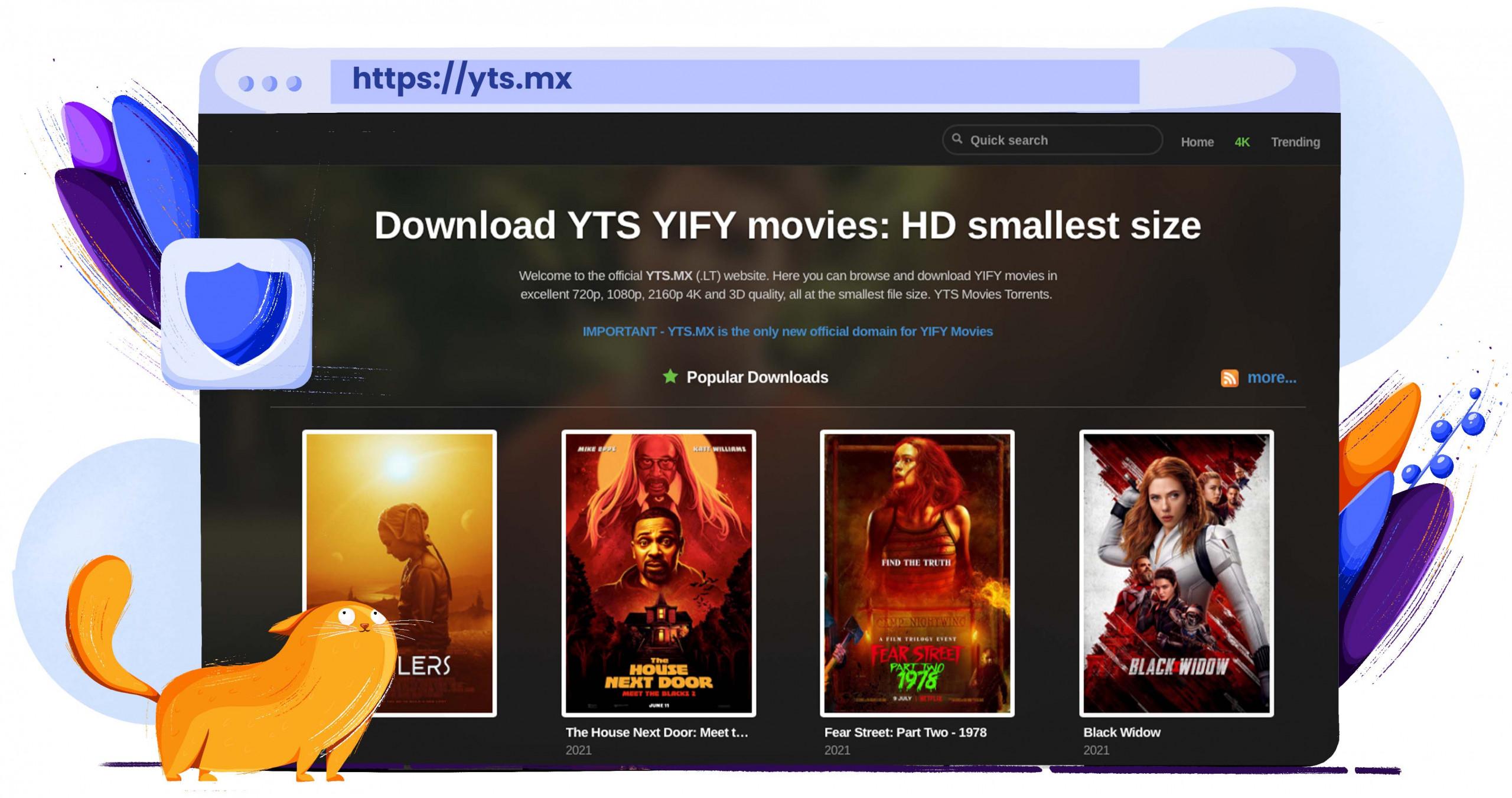 YTS torrenting movies in 4k
