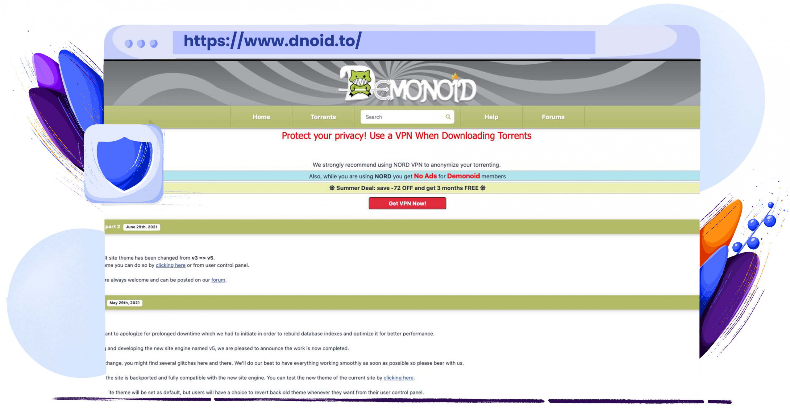 Demonoid torrenting files for 17 years