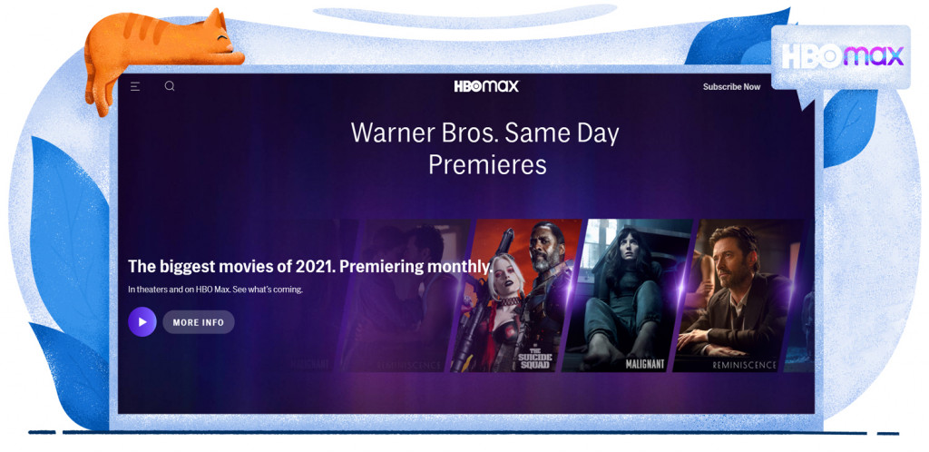 Theatrical releases streaming on HBO Max