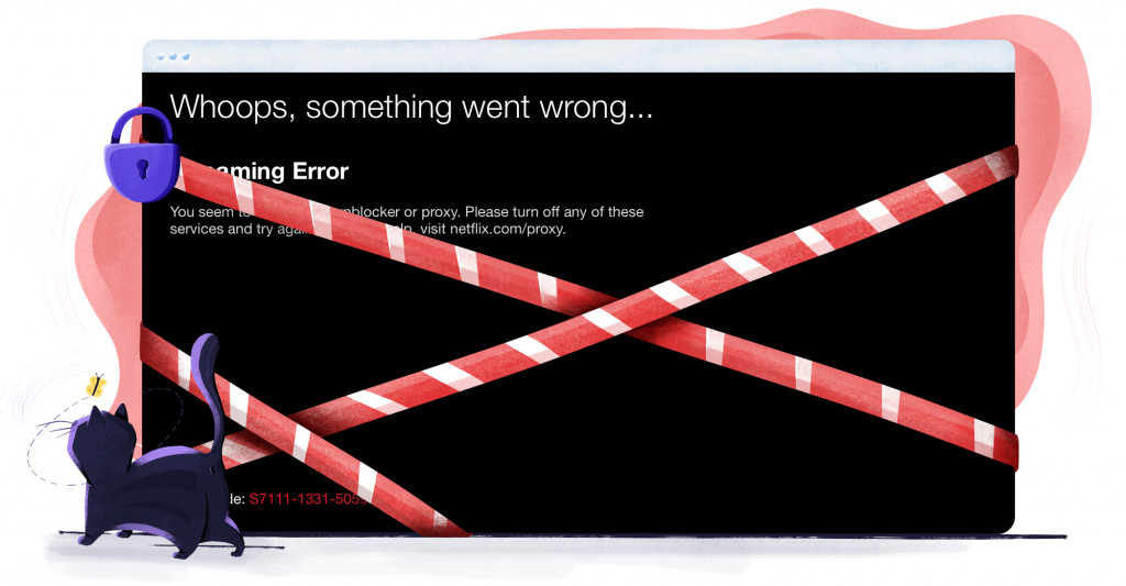 Netflix VPN block error