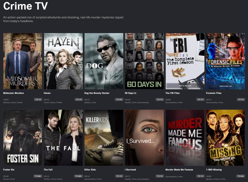Tubi TV Shows
