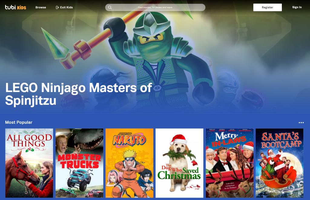 Piattaforma di streaming Tubi Kids