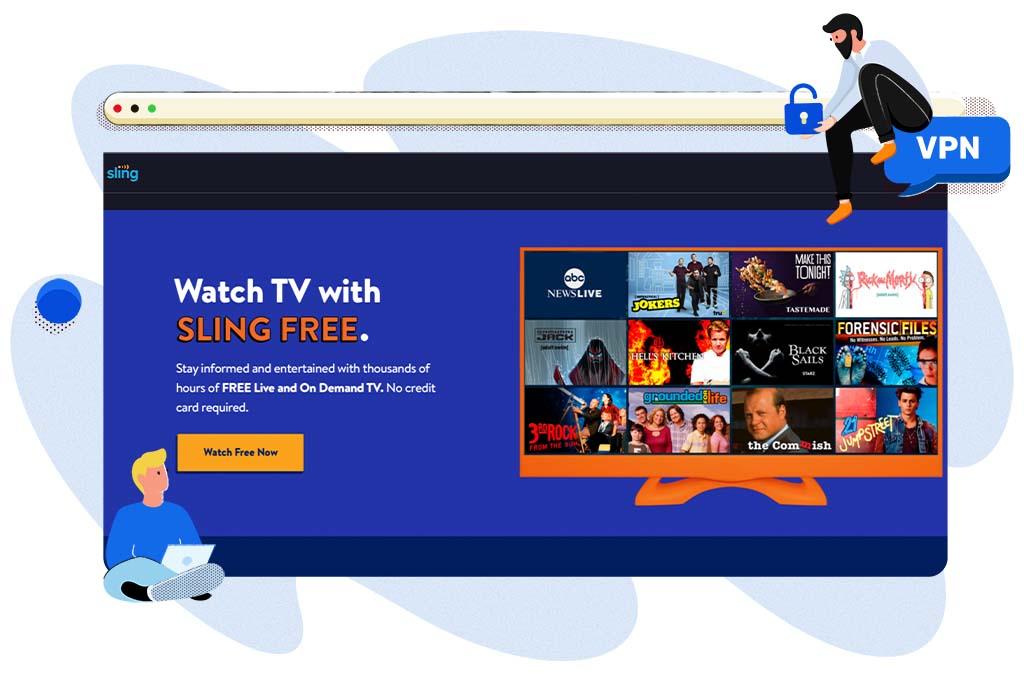 Sling Free gratis online streamingdienst