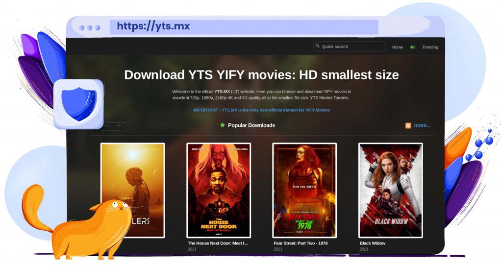 YTS torrentsite voor films in 4k