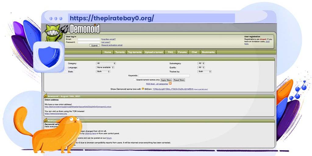 Demonoid torrenting site voor bestanden