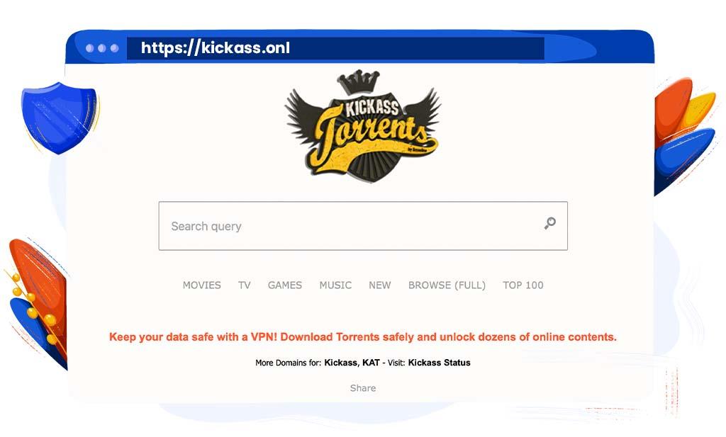 Kickass Torrents hebben entertainment bestanden