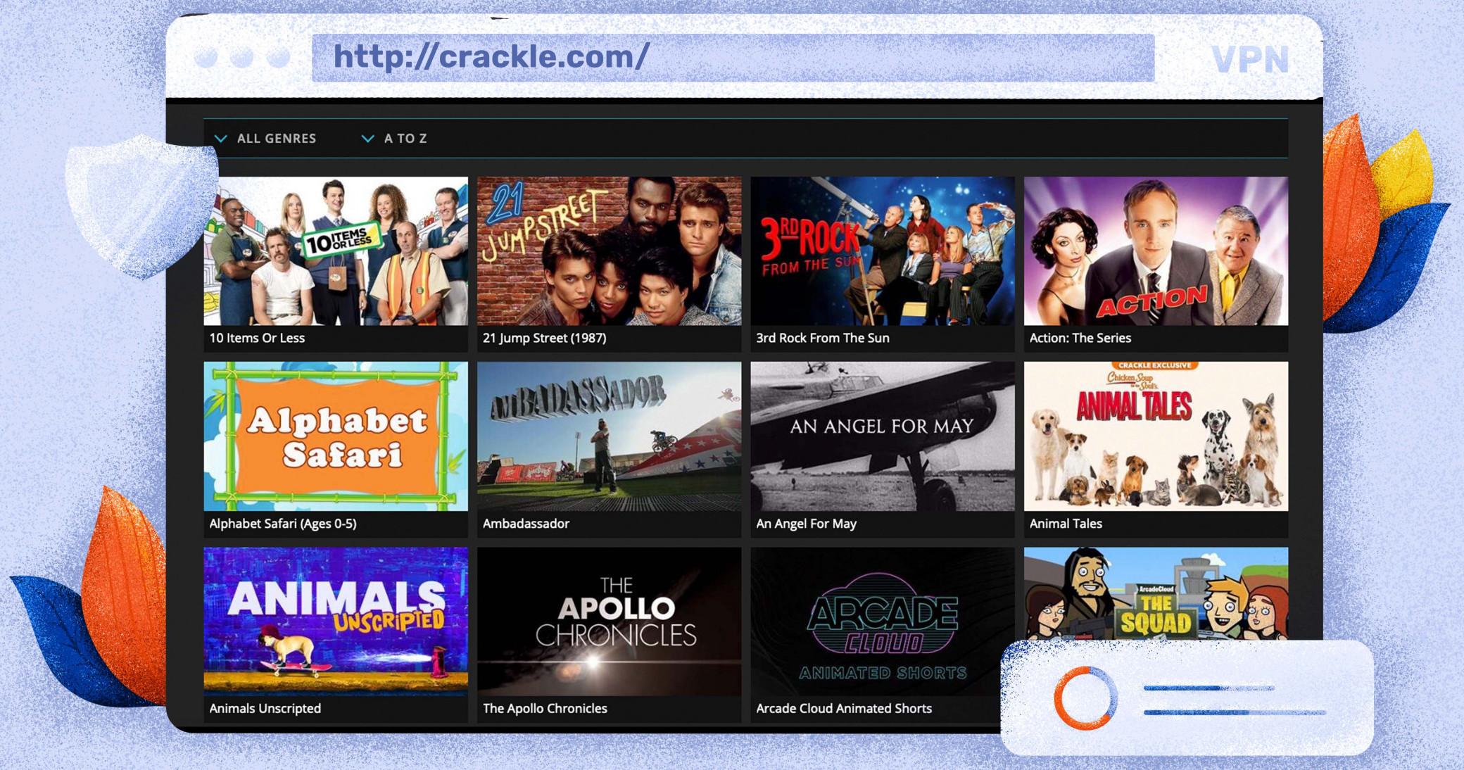 Sie können Inhalte kostenlos auf Crackle streamen