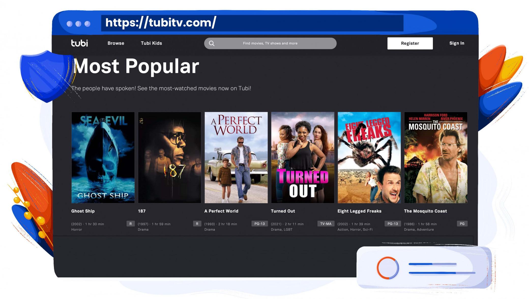 Tubi TV bietet eine große Auswahl an Inhalten zum kostenlosen Streamen