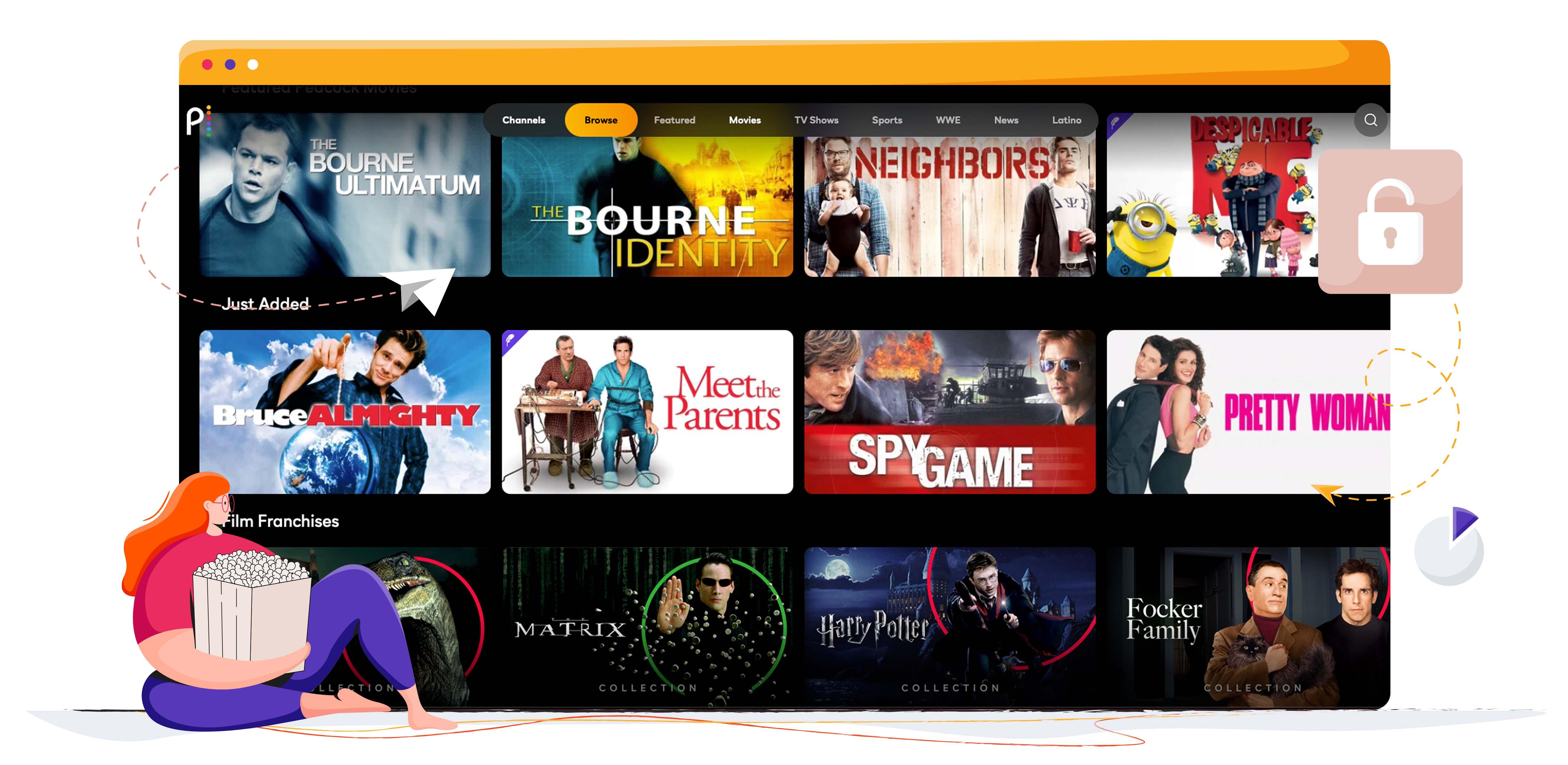 Peacock TV, aksiyon filmlerini ücretsiz olarak yayınlıyor
