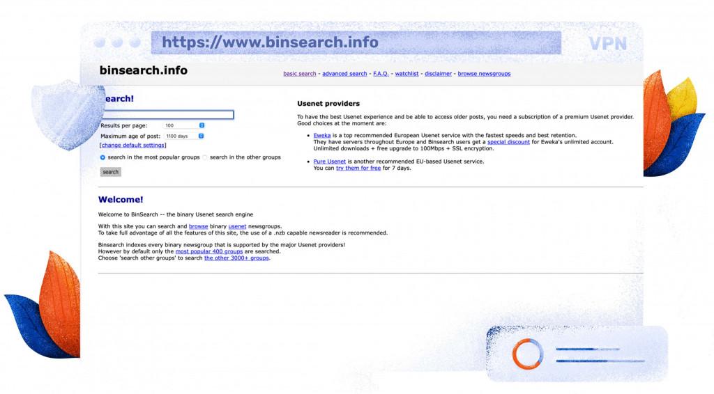 Sie können Dateien kostenlos auf Binsearch herunterladen