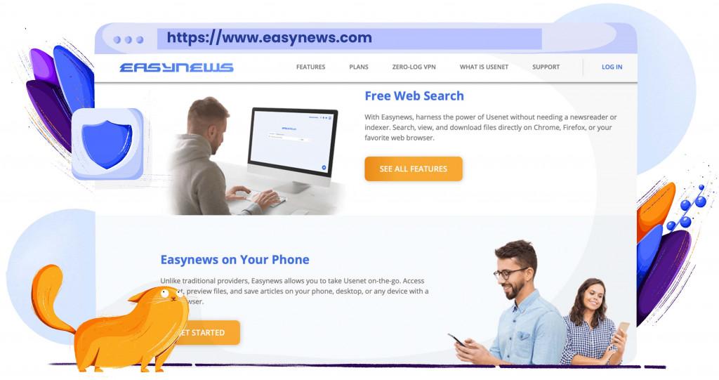 Sie können Dateien kostenlos auf Easynews herunterladen