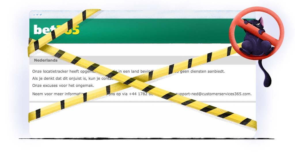 bet365 is in Nederland geblokkeerd