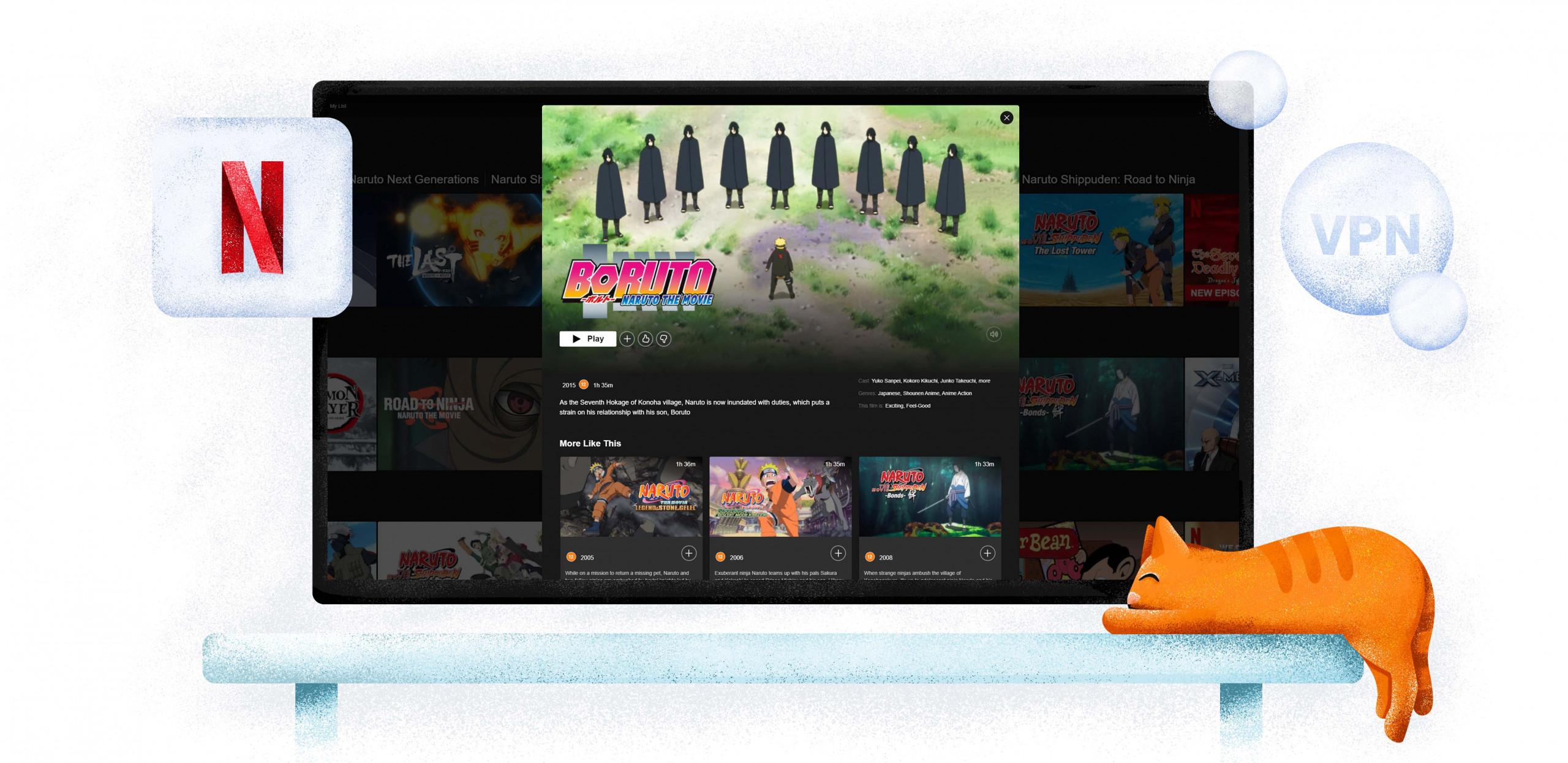 Streamen Sie Naruto-Inhalte auf Netflix mit einem VPN