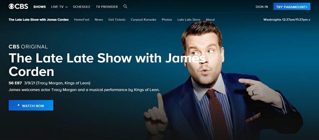 James Corden Show über CBS