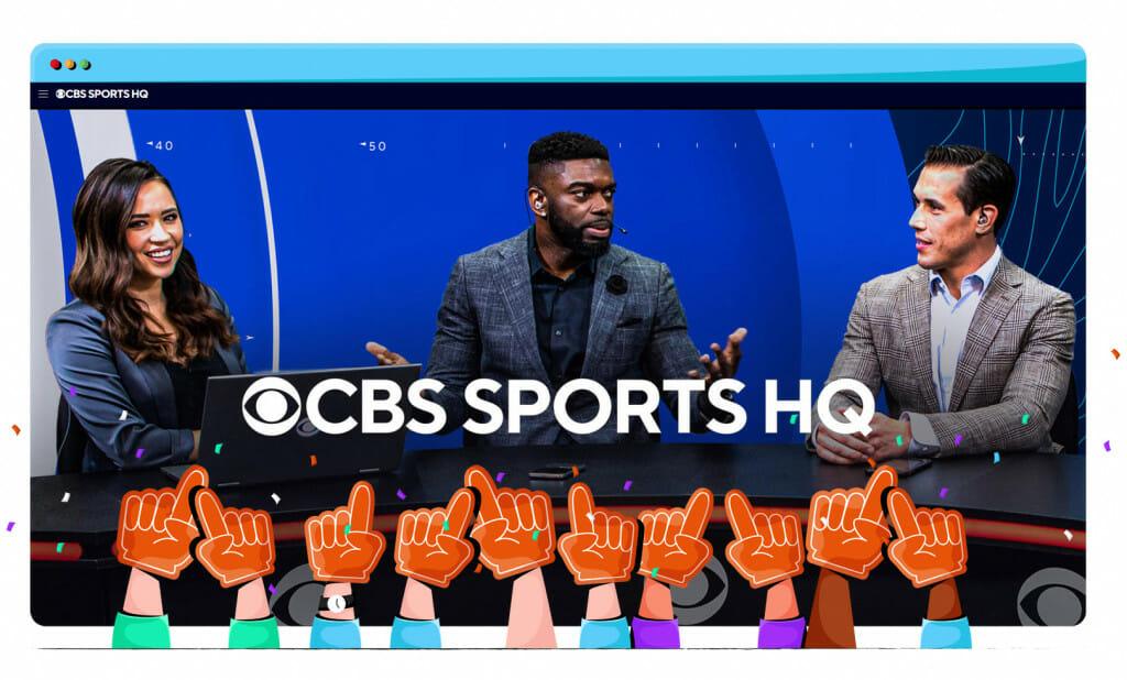 Sport streaming a CBS-en
