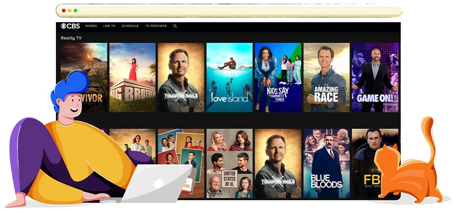 CBS streamt Reality TV shows